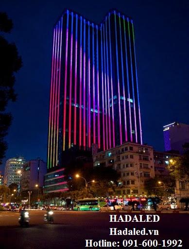 Thi công đèn led trang trí tòa nhà 2021 2