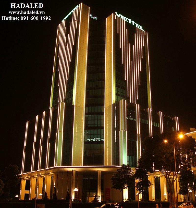 hệ thống led trang trí tòa nhà