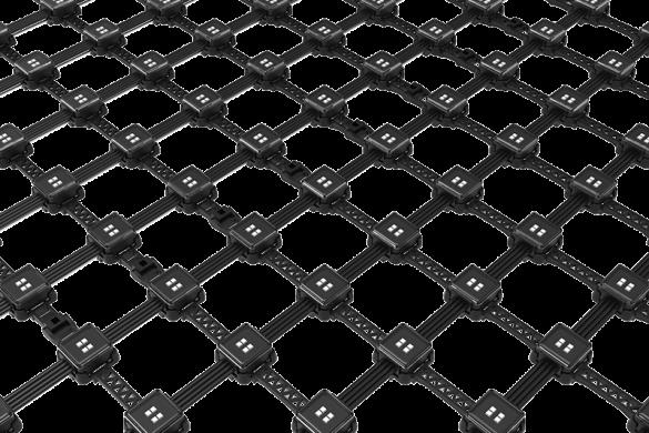 Led trang trí tòa nhà dạng lưới